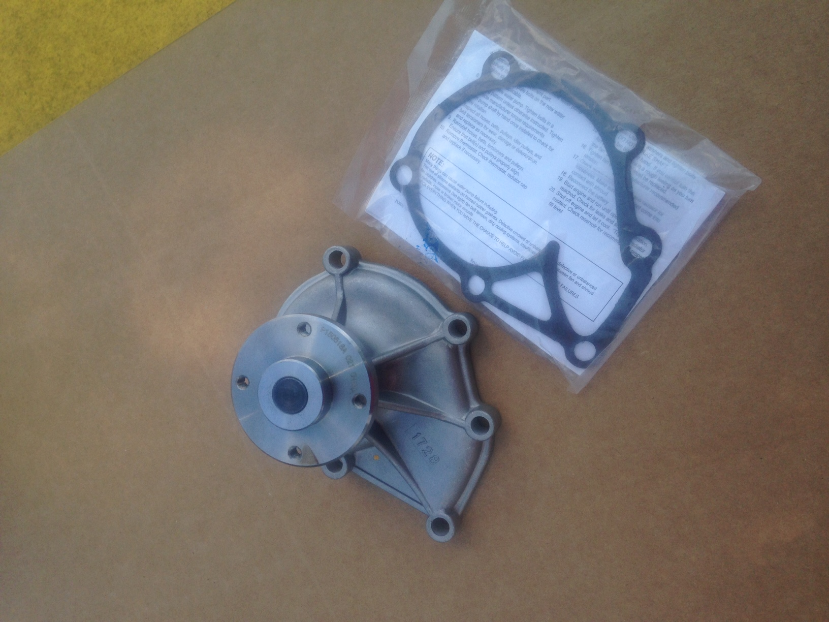Iseki Water Pump WP-3704 W/Gasket See Description Below